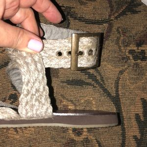 BC Footwear Shoes - BC Footwear Jute/Suede ankle wrap Sandals x 2